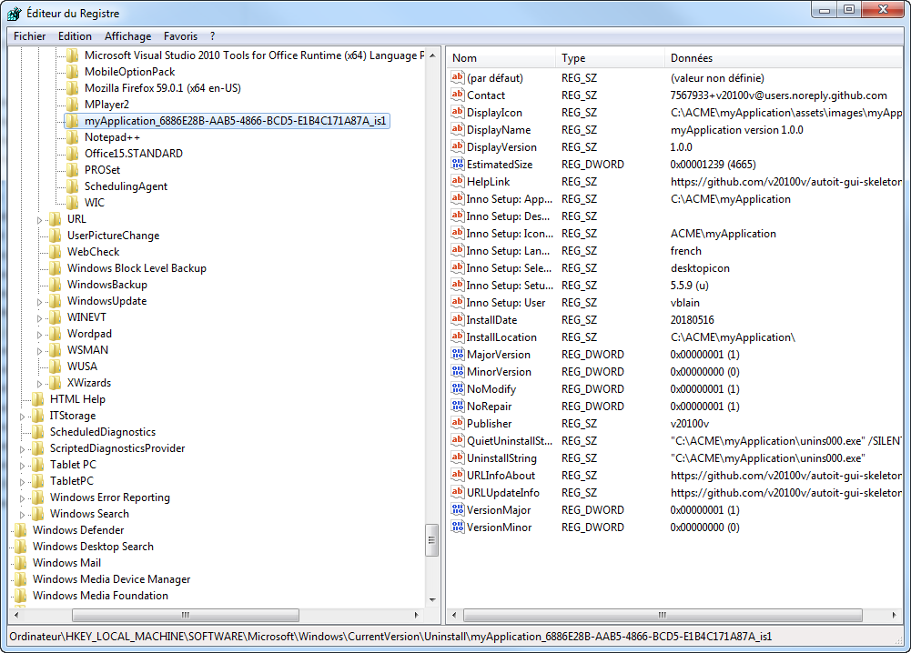 AGS InnoSetup check already install in Windows registry